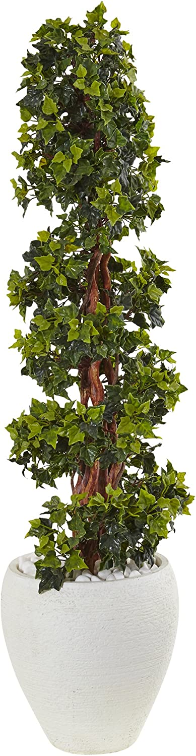 Nearly Natural In a popularity 4' Fixed price for sale English Ivy Tree Gree Artificial Topiary