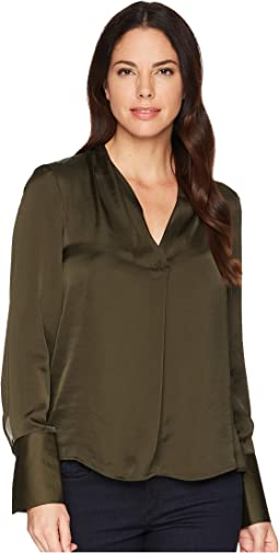 Kenneth Cole New York V-Neck Long Sleeve Blouse