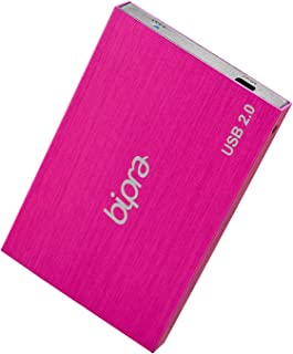 'Bipra 2.5 USB 2.0 externe harde schijf Fine in roze - NTFS 100 GB Rose - Rose