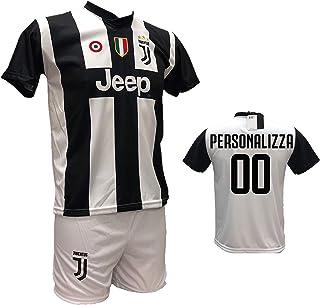 a7b5a6828 Completo Maglia Calcio Juventus bianconera Personalizzabile + Pantaloncino  Bianco Replica autorizzata 2018-2019 Taglie da