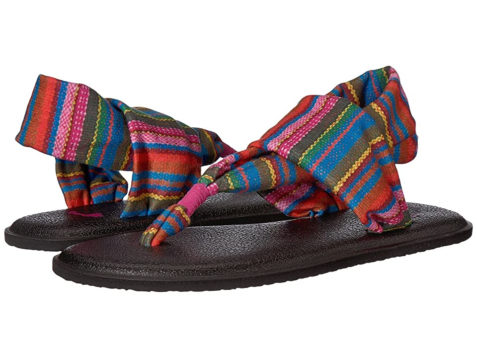 Sanuk Kids Yoga Sling Burst Prints (Little Kid/Big Kid) (Cabaret Kauai Blanket) Girls Shoes