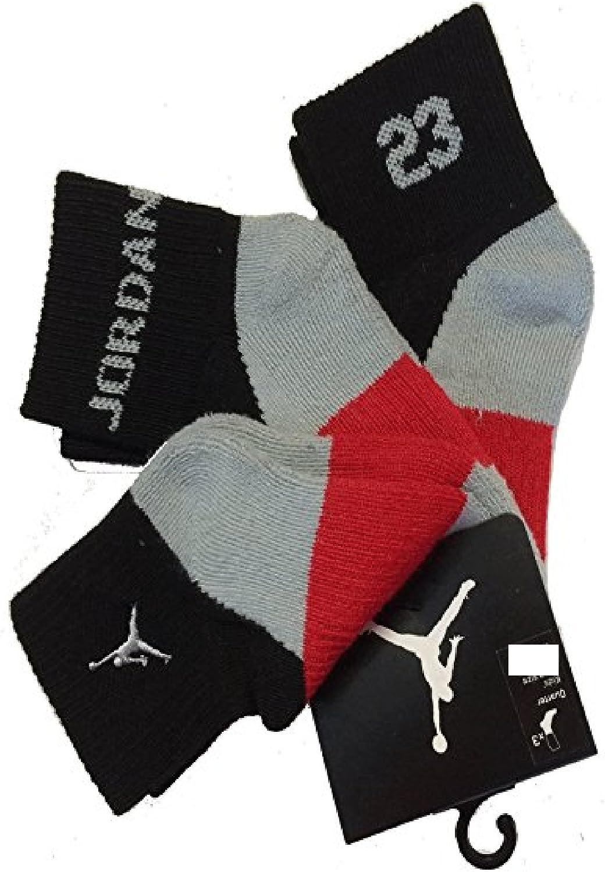 Nike Air Jordan Boys 3 Pair Quarter Socks