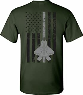 United States Air Force U.S.A.F. Thin Silver Line T-Shirt Tee