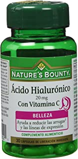 Nature's Bounty Ácido Hialurónico 20 Mg con Vitamina C - 30 Cápsulas