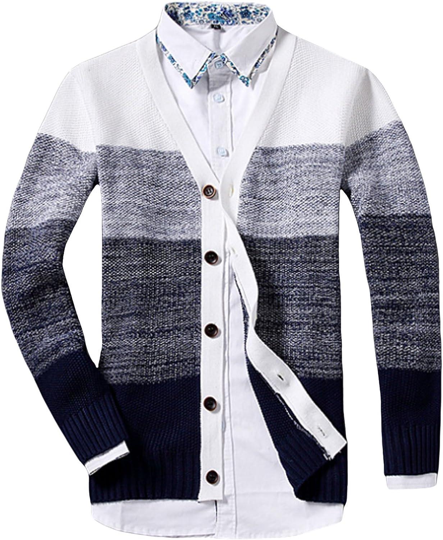 Legou Men's Shawl Cardigan Sweater Button Front Knitwear