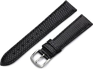 Hadley-Roma Women`s LSL715RA 150 15-mm Black Genuine Java Lizard Watch Strap