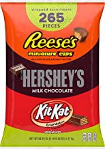 REESE'S, HERSHEY'S & KIT KAT Holiday Chocolate Candy Bulk Variety Mix, Individually Wrapped, Perfect for Stocking Stuffing, Holiday Parties and Gift Bags, 265 Count