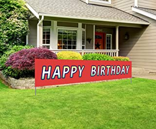 Large Happy Birthday Banner | Giant Bday Party, Happy Birthday, Size No Size