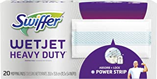 Swiffer Wetjet Heavy Duty Mop Pad Refills for Floor Mopping and Cleaning, All Purpose Multi