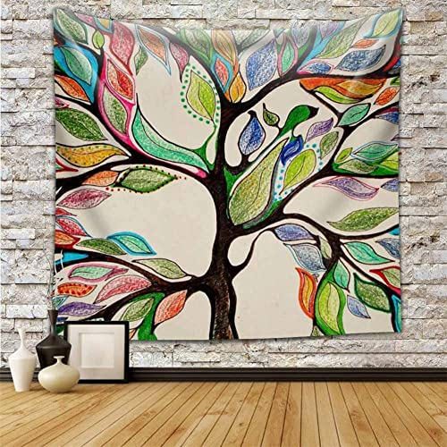 Hanshi Tapestry Palm Leaves Fantastic Tree House in the Forest Green View Home Enjoy Wall Towel Wall Hanging Wall Decoration Table Cloth Beach Towel Beautiful Wall Decoration HYC27 Lebensbaum