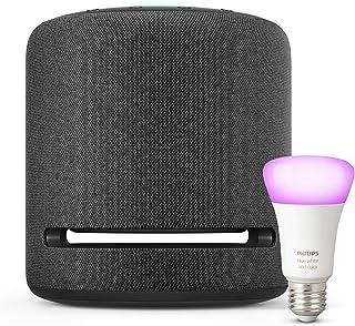 Echo Studio + Bombilla inteligente LED Philips Hue White & Color, compatible con Bluetooth y Zigb...