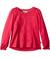Lucky Brand Kids - Long Sleeve Blouse with Embroidery (Little Kids)