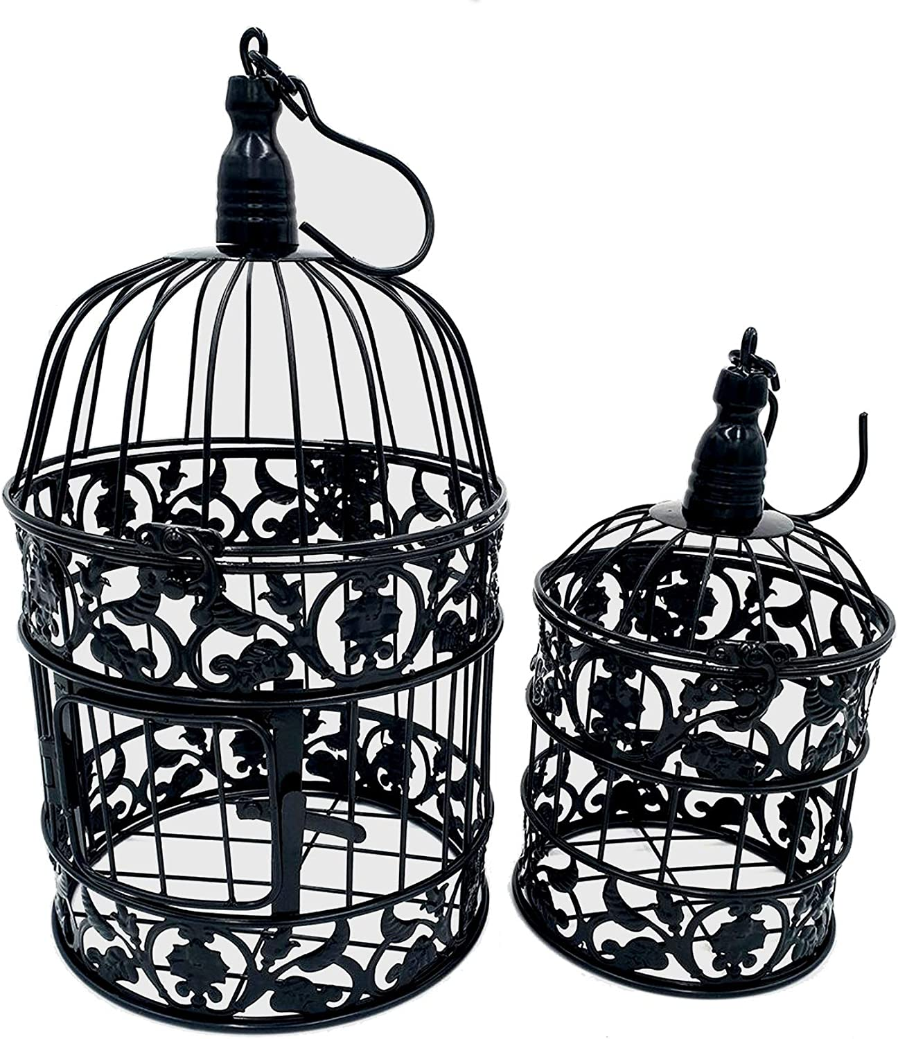 PET SHOW Max 42% OFF Special price for a limited time Pack of 2 Round Decor Hanging Wall Birdcages Metal Bird