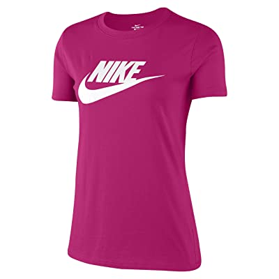 Nike Sportswear Tee Essential Icon Futura (Fireberry/White) Women