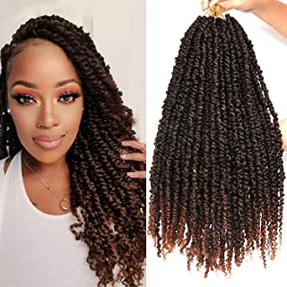 8 Packs Pretwisted Passion Twist Crochet Hair 20 Inch Pretwisted Spring Twist Crochet Hair for Black Women Prelooped Passi...