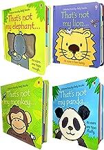 Usborne Thats Not My Animals Collection 4 Books Set (Thats Not My Lion, Elephant, Panda, Monkey)