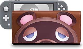 Funlab Leather Carrying Case for Nintendo Switch Lite,Portable Ultra Slim Clutch with Game Card Holder for Animal Crossing...