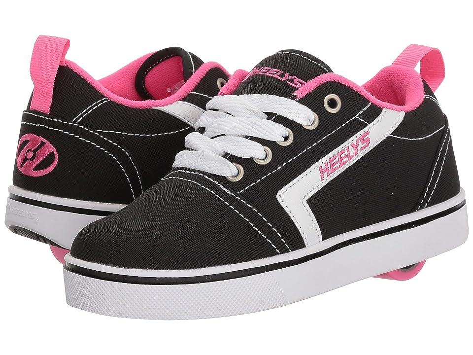 Heelys GR8 Pro (Little Kid/Big Kid/Adult) (Black/White/Hot Pink) Girls Shoes