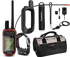 Garmin Alpha 100 TT15 Mini Combo Hunting Armor Bundle w/PlayBetter Portable Charger, Silicone Case, Screen Protectors & Tether | Garmin Field Bag, Satellite (Black Case)