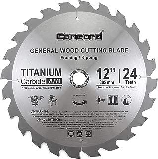Concord Blades WCB1200T024HP 12-Inch 24 Teeth TCT General Purpose Hard & Soft Wood Saw Blade
