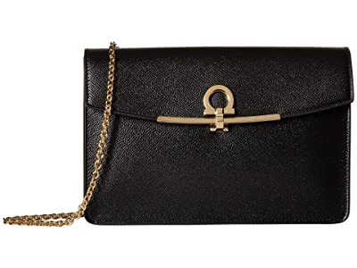 Salvatore Ferragamo Gancio Clip Crossbody (Nero) Handbags