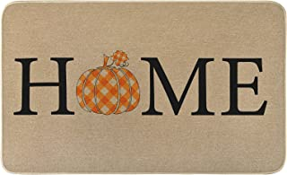Thanksgiving Fall Door Mat Outdoor, Autumn Home Entrance Mat Indoor Outdoor, Durable Non-Slip Floor Mat Area Rug, Decorati...