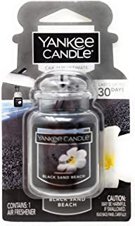 Yankee Candle Black Sand Beach Car Jar Ultimate Air Freshener, Fresh Scent