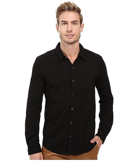 Summerland Knit Long Sleeve Jersey Button Front Shirt