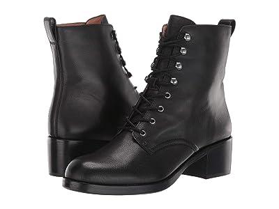 Madewell Patti Lace-Up Boot (True Black) Women