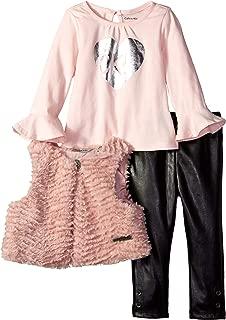Baby Girls 3 Pieces Faux Fur Vest Set