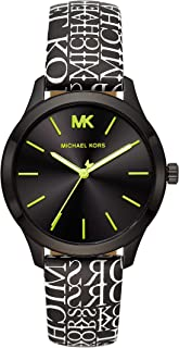 Michael Kors Women's Runway Stainless Steel Quartz Watch with Nylon Strap