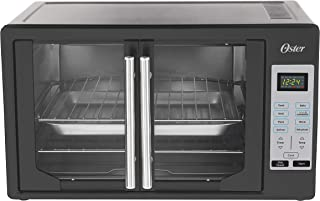 Oster TSSTTVFDDG-B French Door Toaster Oven, Extra Large, Black