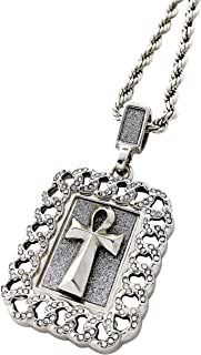 CZ Diamond OMB Only My Brothers Silver Pendant Necklace with 24 Rope Chain