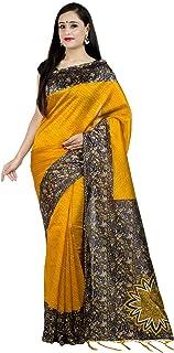 ساري Chandrakala للنساء مزيج الحرير الهندي التقليدي مع بلوزة غير مخيطة، ذهبي (1379GOL)