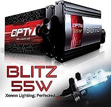 OPT7 BLTZ 55W 9007 Hi-Lo HID Kit - 3X Brighter - 4X Longer Life - All Bulb Sizes and Colors - 2 Yr Warranty [6000K Lightning Blue Xenon Light]
