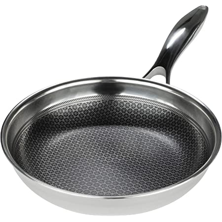 Hexclad Pan hybrid Nonstick Cookware Commercial 10' Inch Pan With Lid