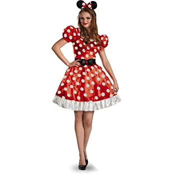 Adult Womens Cosplay Disney Minnie Mickey Mouse Fancy Dress Costume Halloween