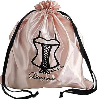Atin & Co. Women's Travel Lingerie Drawstring Satin Bag