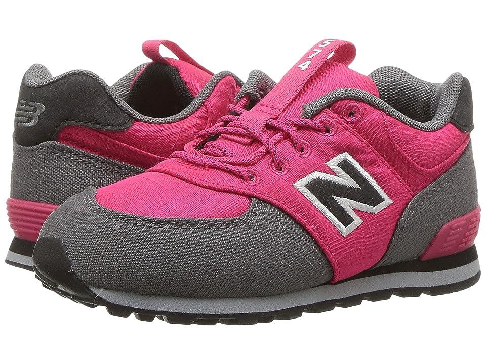 New Balance Kids KL574v1I (Infant/Toddler) (Pink/Grey) Girls Shoes