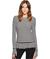 Kate Spade New York Athleisure - Stripe Ruffle Pullover