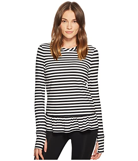 Kate Spade New York Athleisure Stripe Ruffle Pullover