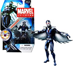 Marvel Hasbro Year 2011 Universe Series 3 Shield Single Pack 4 Inch Tall Action Figure #18 - DARKHAWK with Wings and Display Stand