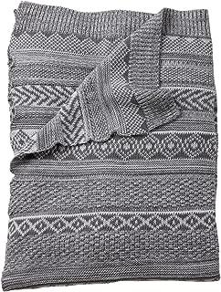 Ethan Allen | Disney Sweater Stitch Knit Stroller Blanket, Mouse Grey