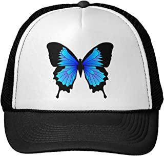 Unisex Adult Trucker Cap -Papilio Ulysses Trucker Hat Black