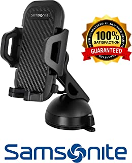 Samsonite SA5964  Phone Holder for Car  Use on Dashboard or Windshield  Works with or without Case  Universal - Compatible with All Phones and Cars