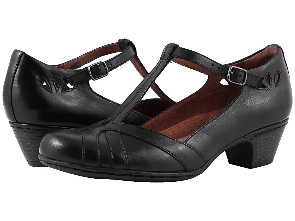 1930s Style Shoes – Art Deco Shoes Rockport Cobb Hill Collection Cobb Hill Angelina Black Womens Maryjane Shoes $119.95 AT vintagedancer.com