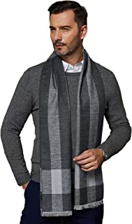 CUDDLE DREAMS Men's Silk Scarves for Winter, 100% Mulberry Silk Brushed, Luxuriously Soft & Warm