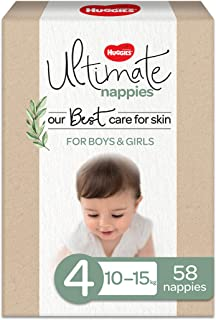 Huggies Ultimate Nappies Size 4 (10-15kg) 58 Count