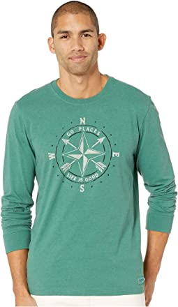 Go Places Compass Long Sleeve Crusher Tee