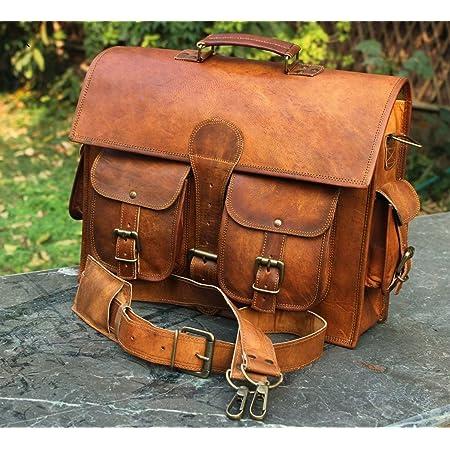 Vintage Couture Laptoptasche für Herren, echtes Leder, handgefertigt